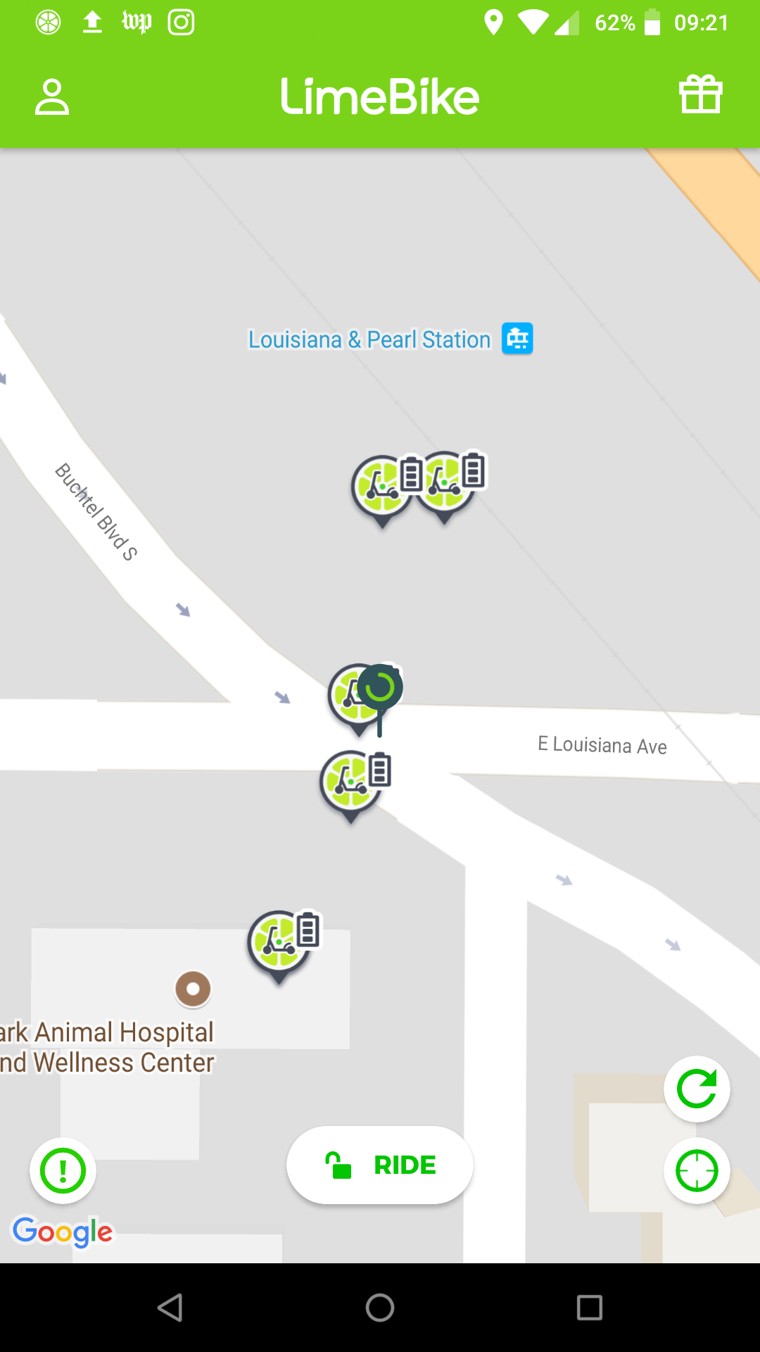 map of scooters